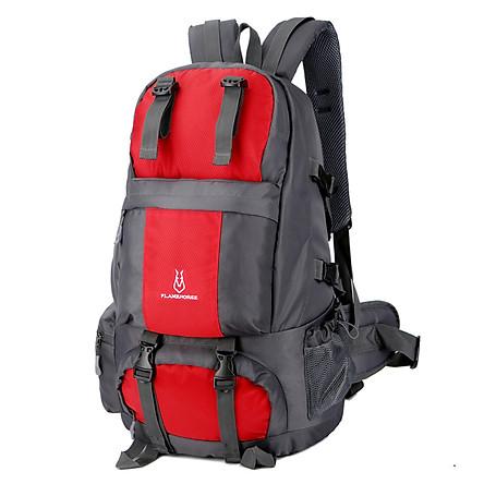 Balo leo núi chuyên dụng 50L chống thấm tiện dụng với ngăn đựng giày riêng dùng cho dã ngoại cắm trại ngoài trời