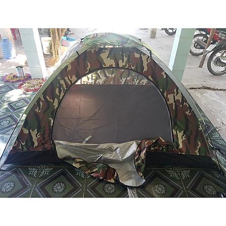 Lều cắm trại không gian rộng, họa tiết rằn ri, lều đi phượt gọn nhẹ, dễ dàng mang theo và lắp ráp khi đi du lịch dã ngoại hay cắm trại ngoài trời.