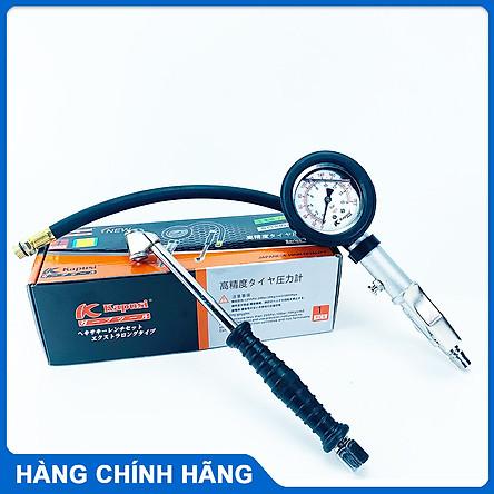 Vòi bơm ô tô khí nén 3 chức năng Kapusi có đồng hồ đo áp suất lốp đầu bơm 2 đầu tiện lợi cho ô tô xe máy xe đạp