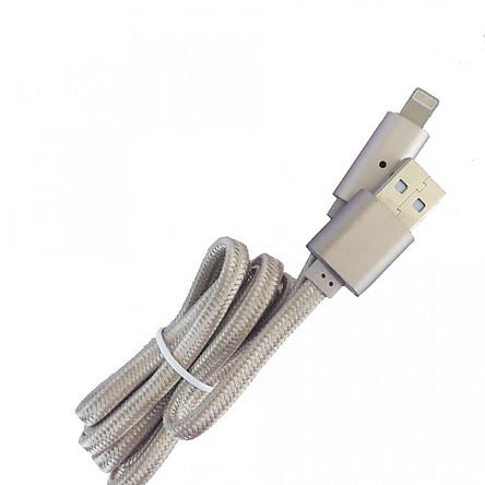 Cáp sạc iPhone/iPad eData U11 dây dù chống đứt tự ngắt đèn khi pin đầy - vàng - Hàng Chính Hãng