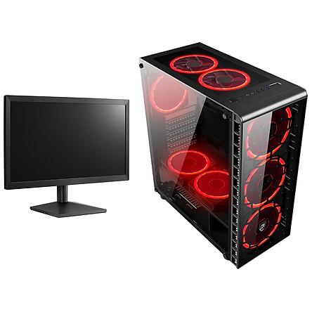 Máy tính chơi Game Vip nguyên bộ 4TechGM06 2019 đời mới kèm màn 24inch Full HD, Case PC Desktop chiến mọi Game đòi cấu hình khủng. - Hàng Chính Hãng.