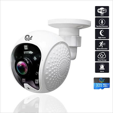 Camera Ip Wifi Quan Sát Gắn Tường Model CC5021, Góc Nhìn Cực Rộng, Độ Phân Giải 2.0Mpx FULL HD, Hình Ảnh Rõ Nét, Kèm Thẻ 32Gb – Chính Hãng