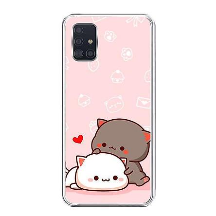 Ốp lưng điện thoại Samsung Galaxy A51 - Silicon dẻo - 0055 LOVELY03 - Hàng Chính Hãng