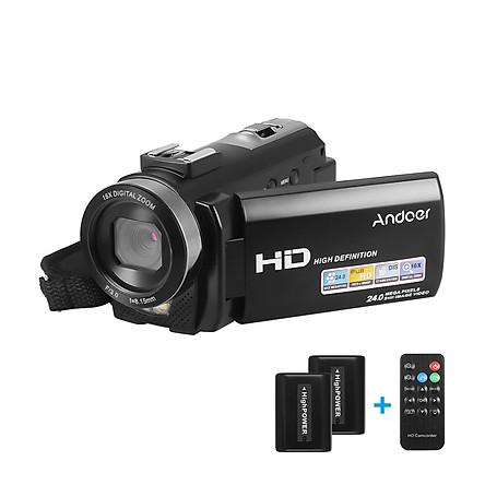 Máy Quay Video Kỹ Thuật Số Andoer HDV-201LM Ghi Âm DV Kèm 2 Pin (24MP 16X Zoom) (3.0 inch) (1080P FHD)