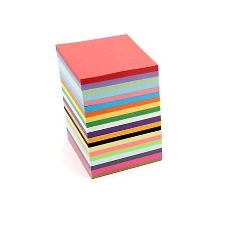 Giấy Thủ Công Origami, 400 Tờ 8 Màu 8X8cm, Giấy Xếp Cò, Giấy Học Sinh