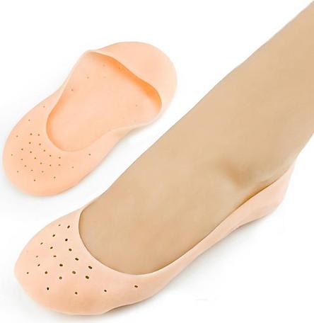 Vớ tất silicon nguyên bàn chân - Màu Cam (1 Đôi)
