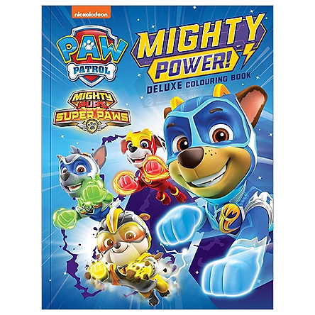 Paw Patrol Mighty Pups: Deluxe Colouring Book