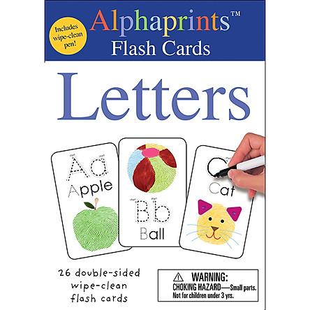 Alphaprints: Wipe Clean Flash Cards Letters