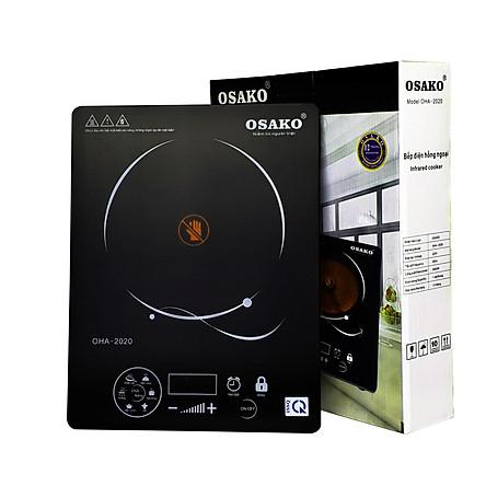 Bếp hồng ngoại 2000W mặt kính Ceramic Osako OHA-2020-Hàng chính hãng