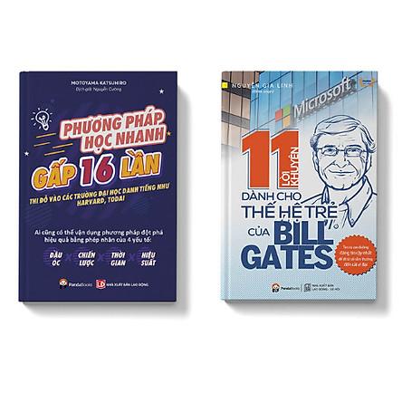 Combo 2 cuốn Phương pháp học nhanh gấp 16 lần + 11 lời khuyên dành cho thế hệ trẻ của Billgates