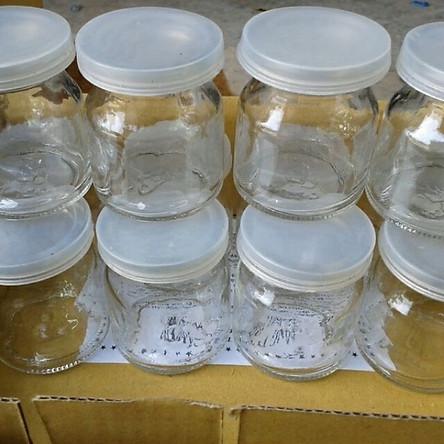 Combo 10 Hủ Thủy Tinh Làm Sửa Chua Bánh Flan THP Trong Suốt  Dày Dặn  Có Nắp