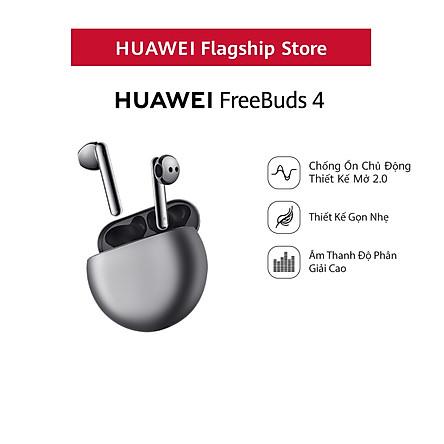 Tai Nghe Bluetooth HUAWEI FreeBuds 4 | Chống Ồn Chủ Động Thiết Kế Mở 2.0 | Thiết Kế Gọn Nhẹ | Âm Thanh Độ Phân Giải Cao | Hàng Chính Hãng