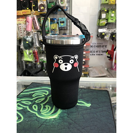Túi xách cho ly giữ nhiệt 900ml mẫu đen gấu