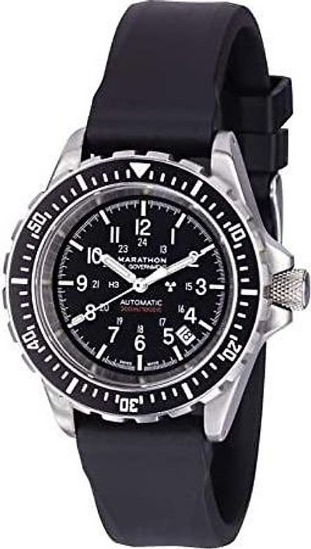 Marathon Watch GSAR Swiss Made Military Issue Diver's Automatic Watch with Tritium (41mm, US Goverment) WW194006