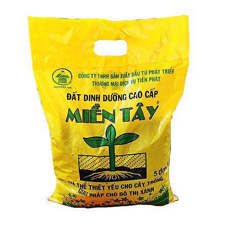 Đất trồng cây - Đất dinh dưỡng hữu cơ trồng cây đa dụng - Đất sạch cao cấpTiến Phát Miền Tây (5 dm3 ) - đất trồng sen đá
