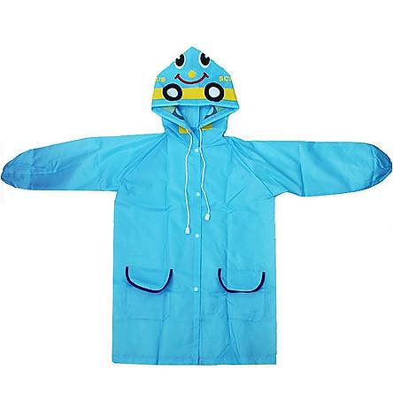 Áo mưa cho bé trai và bé gái hình thú, không dính nước, không mùi và tuyệt đối an toàn, nhiều màu, chọn màu theo ý+ Tặng kèm hình dán ngộ nghĩnh cho bé