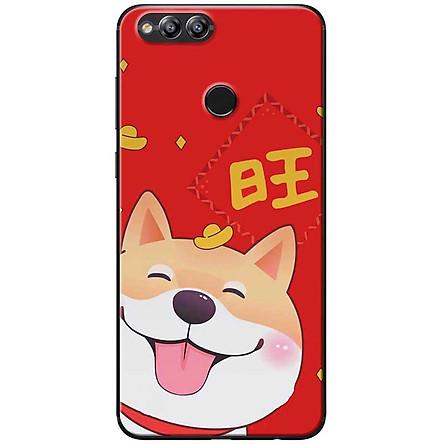 Ốp lưng dành cho  Honor 7x  mẫu Chó Shiba thỏi vàng