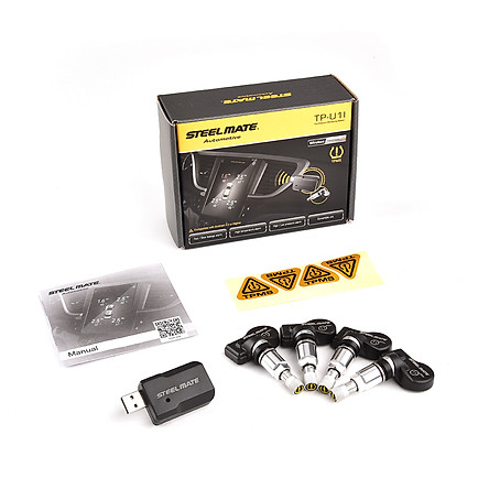Steelmate TPMS Tire Pressure Monitor USB TPMS with 4 Internal Sensors Tire Pressure Real-time Display Only for Android