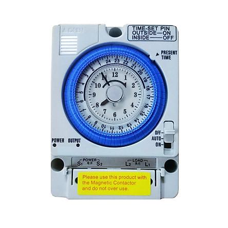 Công tắc hẹn giờ cơ công suất lớn 15A Timer 24H Camsco TB35-N