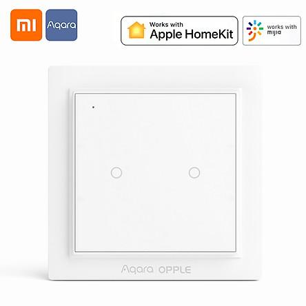 Bộ công tắc không dây Xiaomi Youpin Aqara | Bộ thiết bị nhà thông minh OPPLE Làm việc với ứng dụng Mi Home Công tắc từ đính trên tường Zigbee 3.0