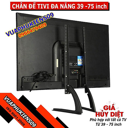 Chân đế TV LCD 39-75 inch, chân đế TV để bàn cho tất cả các loại tivi yuwf 39 đến 75 inch