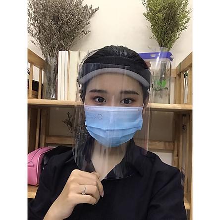 Kính che mặt trong suốt-chống dịch bệnh-chống giọt bắn-chống bụi bảo vệ sức khỏe, dễ tháo rời vệ sinh
