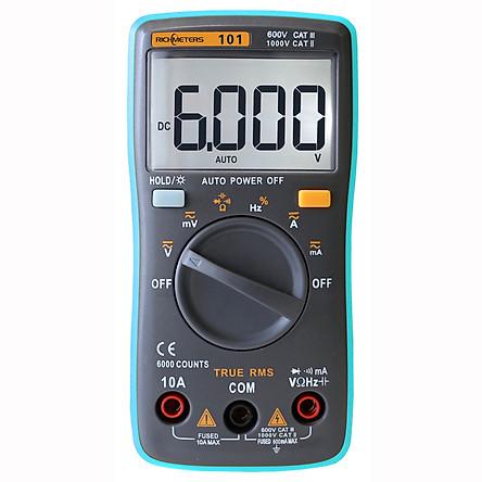 Đồng Hồ Vạn Năng Kỹ Thuật Số Tự Động Richmeters Rm102 Đo Dòng Điện AC/DC Đo Điện Trở Diode