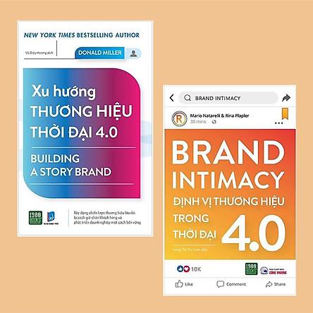 Combo Sách Marketing - Bán Hàng Trong Thời Đại 4.0: Đinh Vị Thương Hiệu Trong Thời Đại 4.0 + Xu Hướng Thương Hiệu Thời Đại 4.0