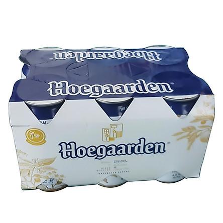 Lốc 6 lon bia Hoegaarden White (330ml/lon)