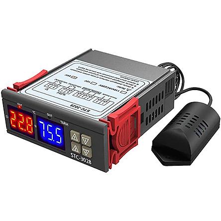 Bộ khống chế nhiệt độ, độ ẩm STC-3028 24VDC | Tiki