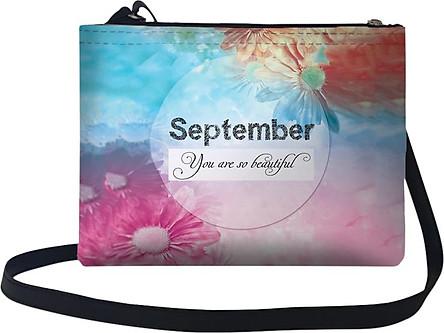 Túi Đeo Chéo Nữ In Hình September, You Are So Beautiful - TUTE042