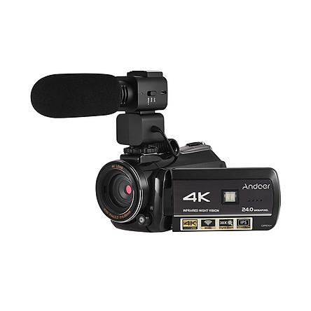 Máy Quay Video IR Wifi Kỹ Thuật Số Andoer AC3 Kèm Ghi Âm (4K UHD 24Mp) (30X Zoom) (3.1Inch IPS)