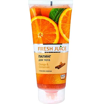 Tẩy tế bào chết cơ thể chiết xuất cam và quế Fresh Juice body peeling Orange & cinnamon 200ml