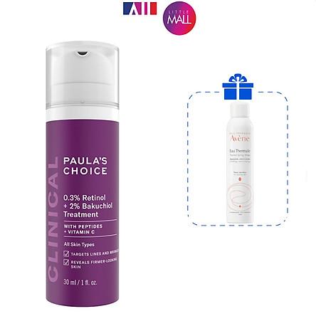 Kem dưỡng ẩm chống lão hóa Paula's Choice 0.3% retinol + 2% bakuchiol treatment 30ml TẶNG xịt khoáng Avene (Nhập khẩu)
