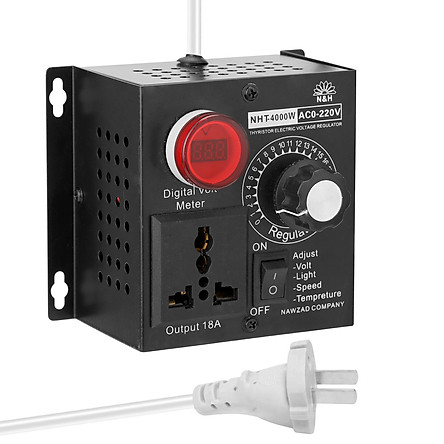 Bộ điều chỉnh vôn kế đa chức năng AC 220 4000W