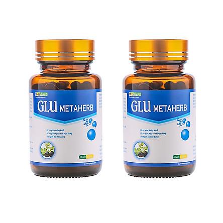 Combo 2 hộp Thực phẩm chức năng Tiểu đường Glu Metaherb