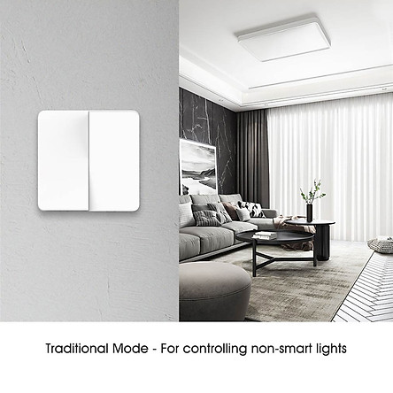 Công Tắc Đèn 2 Chiều Xiaomi Mijia Tương Thích Với Đèn Truyền Thống Và Đèn Thông Minh Điều Khiển Đơn Và Kép