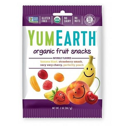 Kẹo dẻo hữu cơ Yum Earth vị Trái cây gói 50gr