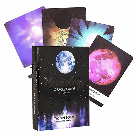 Bộ Bài Bói Moonology Oracle Cards: A 44-Card Deck Tarot Cao Cấp Bản Đẹp