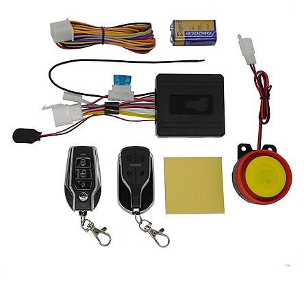 Khóa chống trộm xe máy điều khiển từ xa 4 nút + Tặng kèm 1 Sạc Điện Thoại Gắn Xe Máy Kèm Ổ Đựng Tẩu