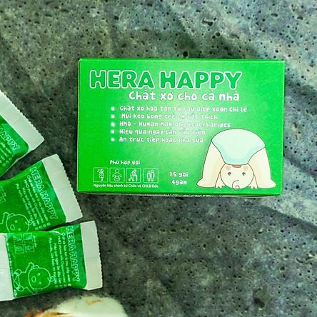 Hera happy - Bổ sung chất xơ, chống táo bón hiệu quả (Hộp 15 gói)- Phù hợp mẹ bầu/Sau sinh/Người già/Trẻ nhỏ