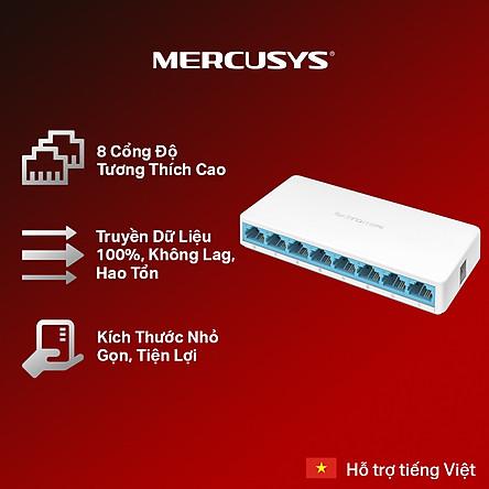 Bộ Chia Mạng 8 Cổng Mercusys MS108 (10/100Mbps) - Hàng Chính Hãng