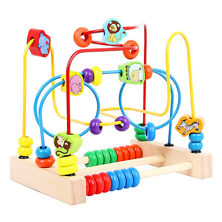Đồ chơi ngộ nghĩnh đáng yêu, đồ chơi luồn hạt gỗ tư duy_đồ chơi thông minh cho bé