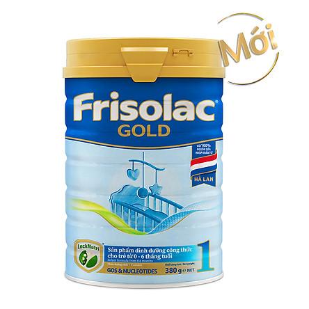 Sữa Bột Frisolac Gold 1 380g Dành Cho Trẻ Từ 0 - 6 Tháng Tuổi