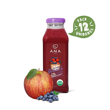 Nước ép trái cây nguyên chất AMA TIME vị Táo Việt Quất 300ml