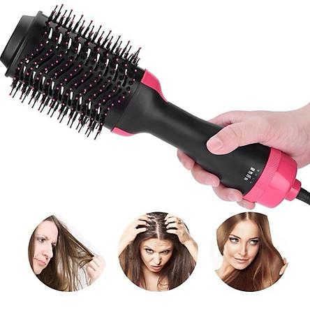 Máy uốn tóc đa năng  tạo độ xoăn có sấy khí 3 in1 tặng kèm dây buộc tóc đính đá ( hình ngẫu nhiên)
