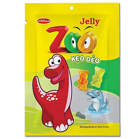 Kẹo Dẻo Zoo Jelly Áo Dầu Bibica (500g)