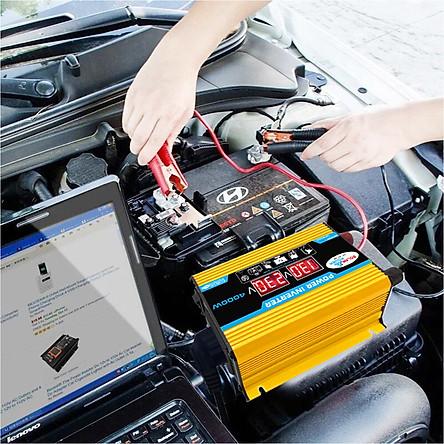 Modified Sine Wave Inverter High Frequency 4000W Peak Power Watt Power Inverter DC 12V to AC 220V Converter Car Power