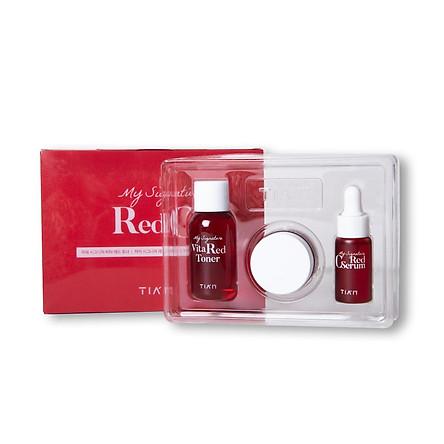 Bộ Kit 3 món dưỡng trắng da làm mờ thâm TIAM My Signature Red C Kit
