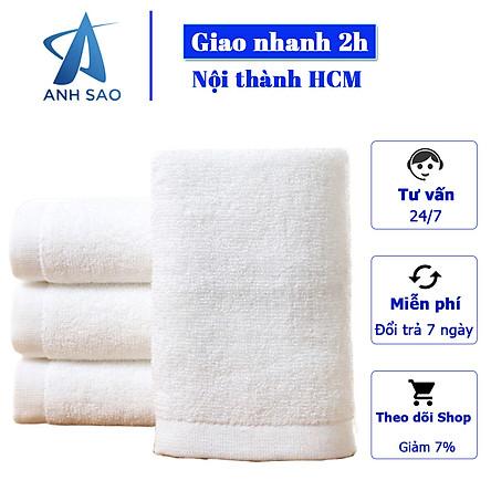 Bộ 2 Khăn tắm Trắng thương hiệu A - 65cmx135cm - Chuyên dùng cho khách sạn, spa